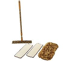 JoeCampanelli&#8217;s Safari Leopard Mop with 3 Microfiber Mop Heads